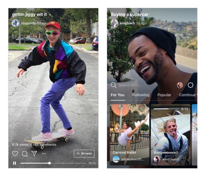 Instagram 推出长视频平台 IGTV,支持上传 1 小时时长视频