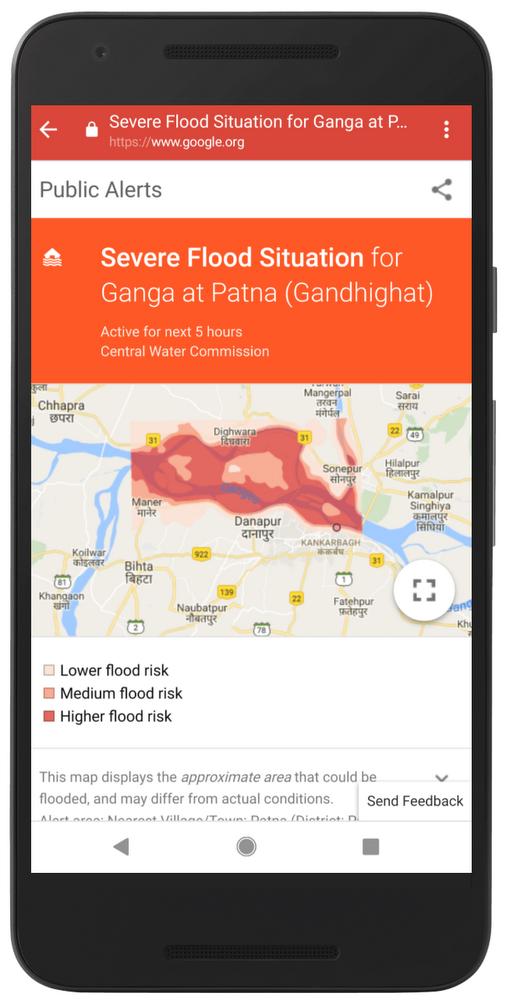 Google 运用 AI 在印度提供洪水灾难警报