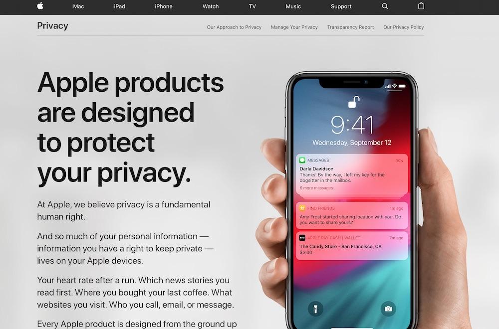 苹果 隐私页面