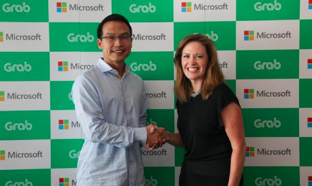 Grab 微软